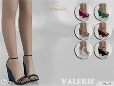 Madlen Valerie Shoes by MJ95 at TSR via Sims 4 Updates