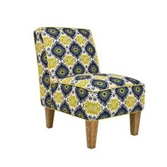 angelo:HOME Dover Chair in Retro Blue-Green Geometric Burst