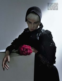 Black and Roses / Vogue Italia Oct 2012 / Kristen McMenamy / Tim Walker