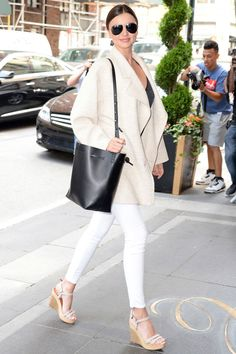 How to wear white jeans year-round. Shop the look and more of fall's denim trends here: