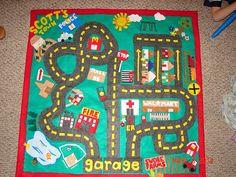 DIY felt car mat... no sewing either (score!) just hot glue gun! :)