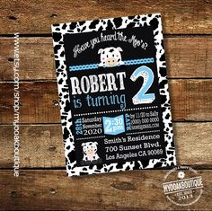 Birthday Party cow invitation chalkboard cow blue party moo cow boy birthday party invite pink digital printable invitation 14085 by myooakboutique on Etsy