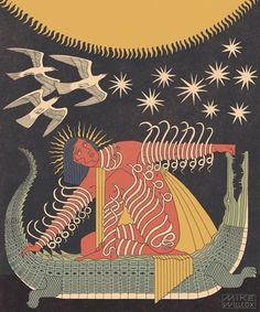 some solid gold occipital dreamwork from ✺ sometimes you have to realize you are the light and the dark, the dove and the… Art Deco Illustration, People Illustration, Illustrations, Graphic Design Illustration, Cosmos, Art Deco Paintings, Book Projects, Oeuvre D'art, Les Oeuvres