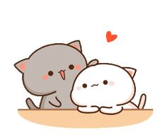 February 05 2019 at Cute Cartoon Images, Cute Couple Cartoon, Cute Love Cartoons, Cute Cartoon Wallpapers, Cat Couple, Gif Kawaii, Kawaii Cat, Cute Anime Cat, Cute Cat Gif