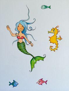 Mermaid Illustration Sea Fish