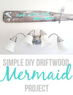 From funky 50's bathroom to a Mermaid Sanctuary, check out my new, beautiful mermaid gallery wall AND learn how to make an awesome DIY mermaid sign! #CraftedExperience #CollectiveBias Ad