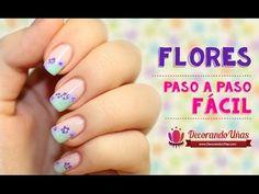 Decoración de uñas fácil – Flores – Video tutorial paso a paso | Decoración de Uñas - Manicura y Nail Art