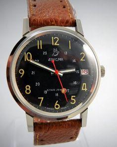 ENICAR Military Style Wrist Watch 1940's at Ashton-Blakey Vintage Watches