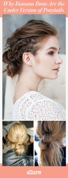There aren't many hairstyles cooler than a ponytail—it's simple, and can be created in 20-seconds (maybe 10 if you're a pro). Now there's a new trend called banana buns that's easier than ponytails. The name sounds like a dessert, but it's not. It's basically a messy chignon that's twisted and pulled to the side or directly to the back of your head.