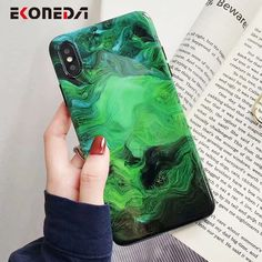 EKONEDA Marble Case For iPhone 7 8 Plus Case Silicone Soft Green Cover For iPhone 6 6S Plus Case iPhone X XR XS Max Cover Outfit Accessories From Touchy Style. | Free International Shipping. Iphone 7 Phone Cases, Phone Cases Marble, Marble Case, Cute Phone Cases, Cartoon Rose, Iphone Design, Winter Crafts For Kids, Graphic Quotes, 6s Plus Case