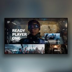 Ready Player one on Inspirationde Free Web Design, Ui Ux Design, Interface Design, Website Design Layout, Web Layout, Layout Design, Homepage Design, Tv App, App Ui