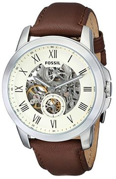 Shop for Fossil Men's Grant Twist Multifunction Off-White Dial Brown Leather Watch Get free delivery On EVERYTHING* Overstock - Your Online Watches Store! Fossil Watches For Men, Swiss Army Watches, Stylish Watches, Cool Watches, Wrist Watches, Men's Watches, Luxury Watches, Brown Leather Watch, Best Watch Brands