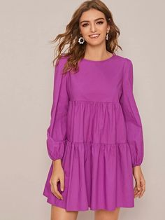 Summer Outfits Women, Simple Outfits, Simple Dresses, Elegant Dresses, Cute Dresses, Summer Dresses, Smock Dress, Buy Dress, Modest Fashion