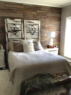 rustic chic master bedroom - Google Search