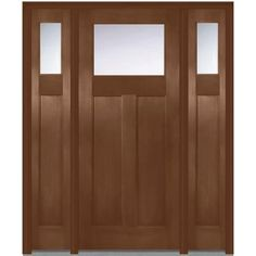 Milliken Millwork 64 in. x 80 in. Classic Clear Glass 1 Lite Craftsman Finished…