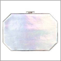 """The """"Octo"""" Clutch in Holographic Silver"""