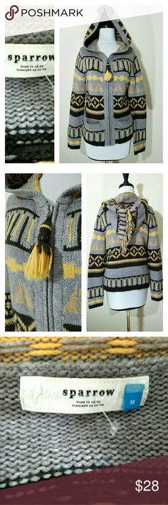 Sparrow hooded sweater anthropologie M Cute zip up sweater.  Size medium.  Very good condition.  Smoke free home Anthropologie Sweaters