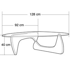 Noguchi Coffee Table Dimensions at Party Ideas and Tutorials Party Theme Coffee Table Size, Coffee Table Dimensions, Coffee Table Design, Coffee Table Measurements, Centre Table Design, Noguchi Coffee Table, Vintage Furniture Design, Isamu Noguchi, Contemporary Coffee Table