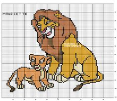 The Lion King pattern by Mauricette