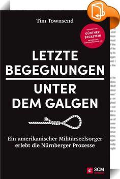 """Letzte Begegnungen unter dem Galgen    ::  """"Vergebt denen, die euch Böses tun."""" Aber was ist, wenn das Böse millionenfacher Mord ist?  Nürnberg 1946. Die Hauptkriegsverbrecher werden angeklagt und erwarten ihren Tod. Der Militärseelsorger Henry Gerecke führt mit vielen von ihnen Gespräche, darunter Hermann Göring, Albert Speer, Generalfeldmarschall Wilhelm Keitel und Rudolf Hess. Manche der Angeklagten reagieren mit Ablehnung auf die christliche Botschaft, andere gleichgültig, doch man..."""