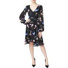 32a211d953b Betsey Johnson Womens Floral Print Knee-Length Cocktail Dress