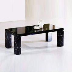 b06637f6f4f Black Marble Coffee Table
