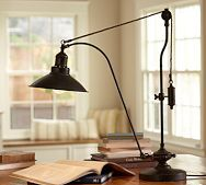 yes PLEASE!!!! Glendale Pulley Task Table Lamp