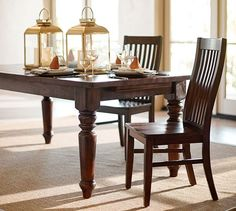 Lorraine Extending Dining Table 96 120 inches Pottery Barn