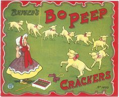 ORIGINAL LABEL VINTAGE FIRECRACKERS 1930S LITTLE BO PEEP NURSERY RHYME ENGLAND