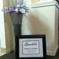 Wedding Farewell Sparklers Complete with Framed Sign! DIY ;)