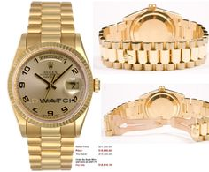 This watch is an Authentic Rolex Mens New Style Heavy Band 18K Yellow Gold President Day Date Model 118238 Solid 18K Yellow Gold President Band with an 18K Gold Fluted Bezel and a Champagne Arabic Dial. The watch is in Mint Day one condition and comes with all box, booklets, tags, and all applicable paperwork.