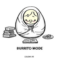 When I need to recharge, I burrow into my blankets and go into hermit burrito mode. Snacks, books and tea are my combo :) I Love Books, Good Books, Books To Read, My Books, Poster S, Illustrations, Book Of Life, Love Reading, Reading Time