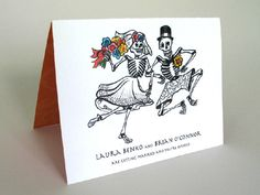 Day Of The Dead Wedding Invitation