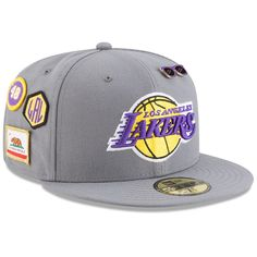 839bb2e138e71 Men s Los Angeles Lakers New Era Gray 2018 Draft 59FIFTY Fitted Hat