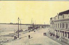 Waalkade Nijmegen met tuimellantaarn Smit Slikkerveer