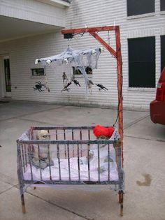 Love this! Wish I had a good place to store big decorations like this. -M Nightmare Nursery Crib & Mobile