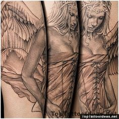 "This tattoo picture ""Beautiful angel tattoo by Niki Norberg"" is one of many tattoo ideas listed in the Angel Tattoos category. Feel free to browse other ta"