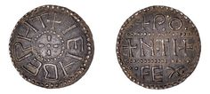 The Anglo-Saxon penny bears the name of an early Archbishop of Canterbury and is only the . Sutton Hoo, Spanish Armada, Coin Design, Coin Art, Early Middle Ages, Old Coins, Anglo Saxon, European History, Dark Ages