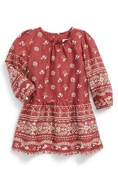 Free shipping and returns on Burberry 'Mini Tais' Print Dress (Baby Girls) at Nordstrom.com. A vintage floral print provides a sunny update for a lightweight cotton/silk dress finished with a gently gathered drop-waist skirt.