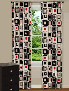 Modern curtains & drapes for every window in your home. Searching for contemporary chic or trendy and upbeat? Contemporary Curtains, Contemporary Decor, Mid Century Modern Curtains, Retro Camping, Kitchen Curtains, Dream Bedroom, Drapes Curtains, Accent Decor, Decor Styles