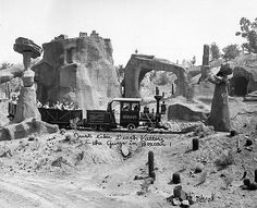 The Rainbow Mountain, Mining and Exploration Railroad at Disneyland -- circa 1956. (LAPL 00113977)