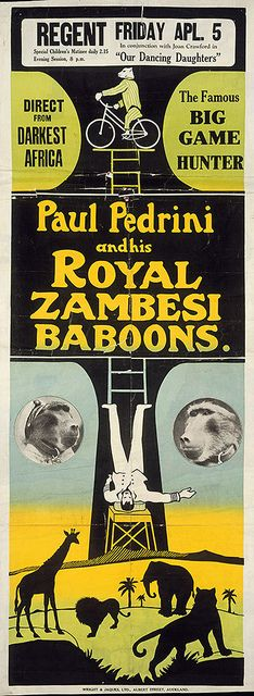 Direct from darkest Africa, the famous big game hunter by National Library NZ on The Commons, via Flickr
