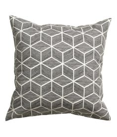 Check this out! Cushion cover in cotton twill with a printed pattern. Concealed zip at lower edge. - Visit hm.com to see more.