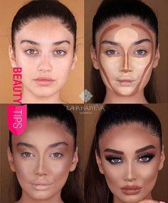 Konturtransformation – Tracie Kline-Dever – – - Make-Up Techniken Make Makeup, Makeup 101, Makeup Contouring, Makeup Goals, Makeup Hacks, Skin Makeup, Makeup Inspo, Makeup Inspiration, Makeup Ideas