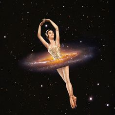 Cosmic Ballerina, Part 1 by Eugenia Loli Collage Collages, Surreal Collage, Collage Artists, Eugenia Loli, Space Cowboys, Photoshop, Sign Printing, Triptych, Mythology