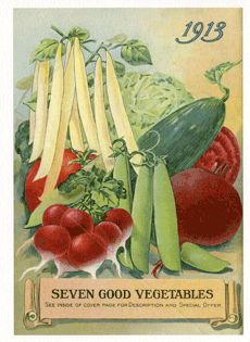 Vintage USDA & WWII garden posters (Victory Garden). Full collection here: http://specialcollections.nal.usda.gov/products/special-collections-products-catalog