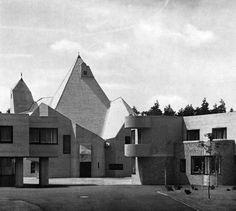 The Children's Village in Bensberg, Germany, designed in the Brutalist style by Gottfried Böhm (1968)