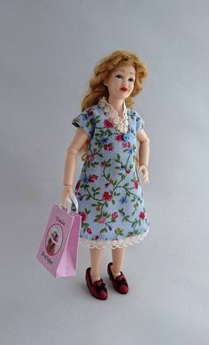 """Wearable dollhouse dress for 1/12 Heidi Ott 5.5"""" slim doll. Price contains shipping. by TuulasBoutique on Etsy"""