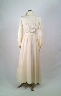 Vintage 1970s OSCAR de la RENTA Ivory Cream Gown  by SLVintage, $130.00