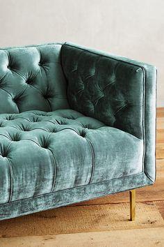 Slide View: 3: Slub Velvet Mina Sofa